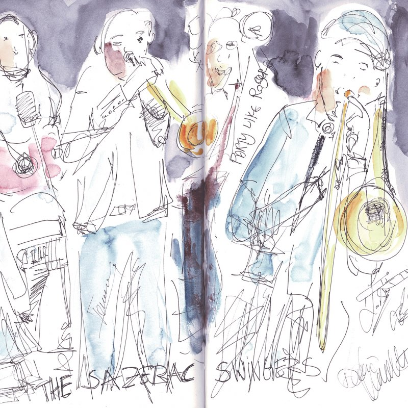 The Sazerac Swingers, Skizzenbuch A4, 25.5.2019